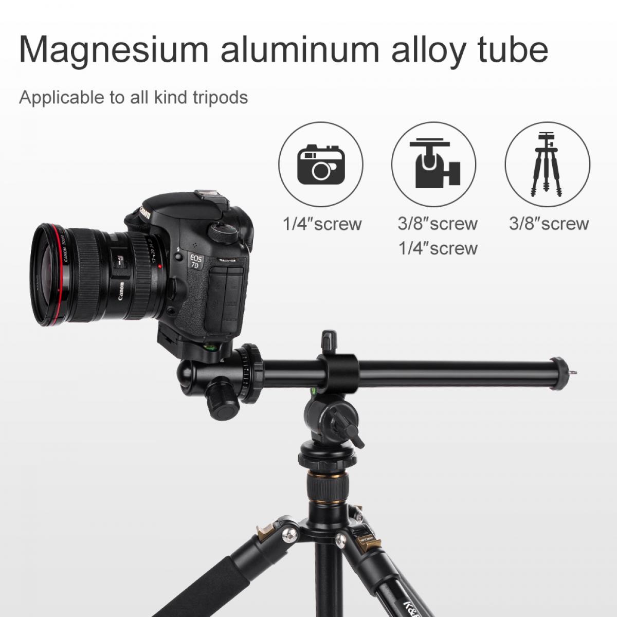 K&F Rotatable Multi-Angle Center Column For Camera Tripod Magnesium Alloy & Lock