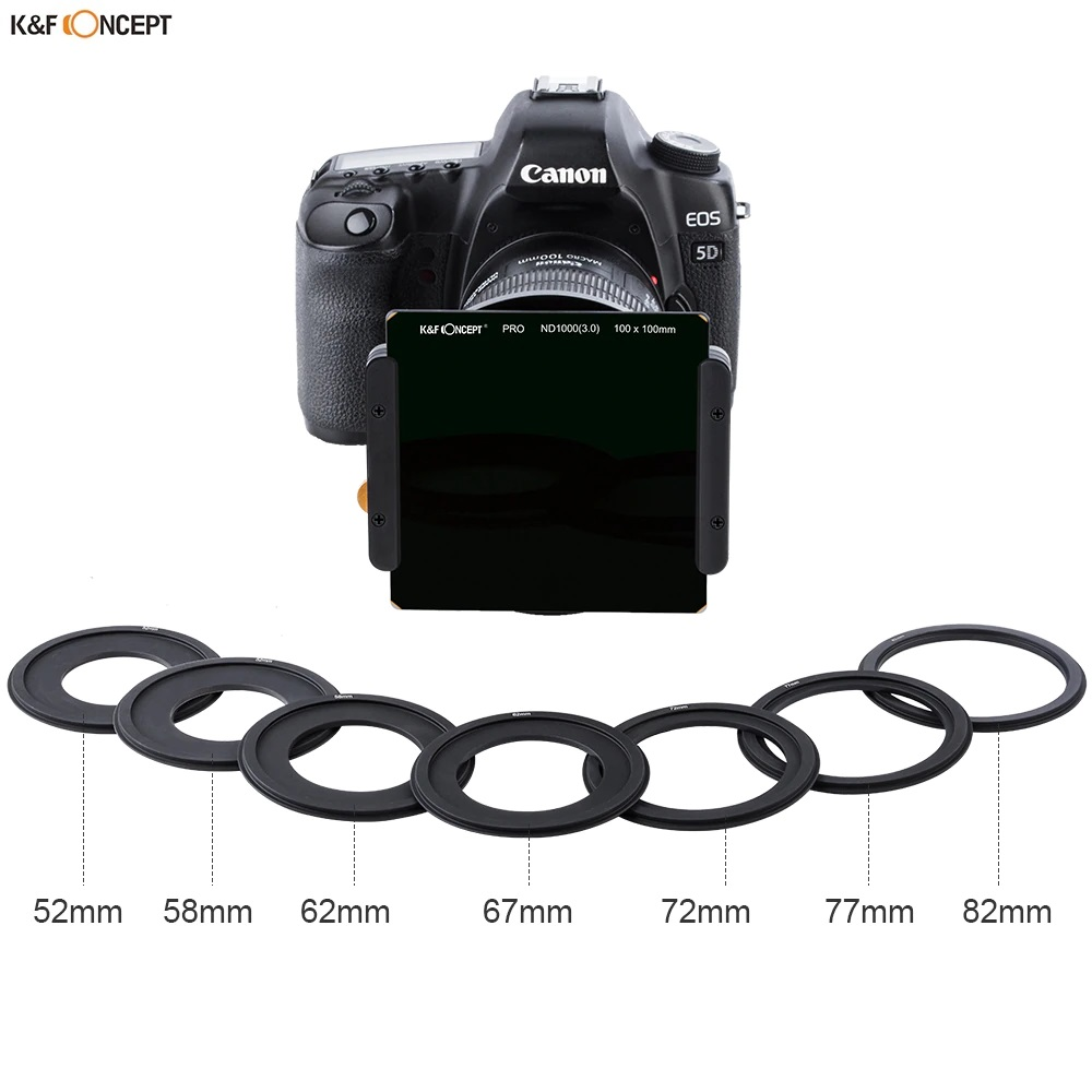 K&F Concept Square Filter ND64 100 x 100mm 6 Stop Neutral Density with Filter Holder