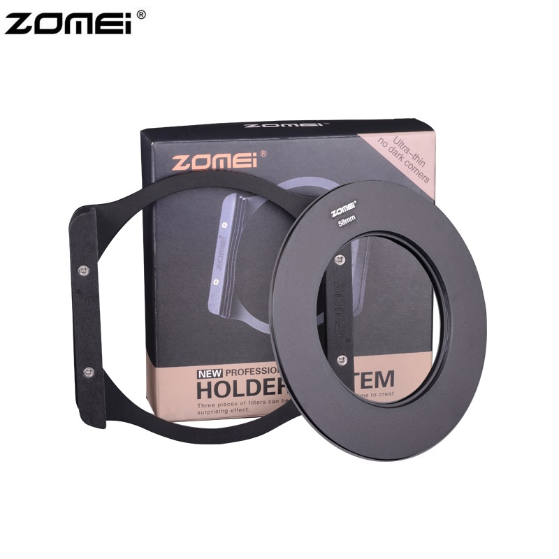 Zomei P3 Metal Holder Filter Bracket + 8pcs Adapter Rings For DSLR