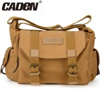 Caden F1 Portable Vintage Canvas DSLR Camera Shoulder Bag