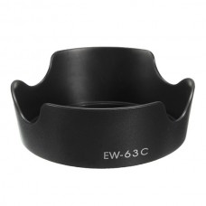 EW-63C Lens Hood Black Color for Canon EF-S 18-55mm F/3.5-5.6 IS STM Lens