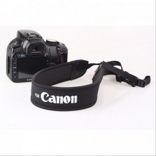 Neoprene Camera Neck Strap for Canon - Black Color