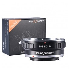 K&F Concept Lens adapter For Canon EOS (EF/EF-S) Lens to Canon EOS M Camera Mount