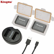 KINGMA LP-E17 Dual Battery with Charger 1040mAh - Canon EOS M3/M5/M6/760D/750D/800D/77D/200D