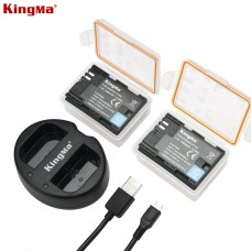 KINGMA LP-E6 Dual Battery With Battery Charge for Canon 5DRS, 5D Mark II, III, IV, 80D, 70D, 7D2, 7D, 60D, 6D