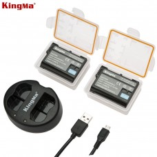 KINGMA NP-FW50 Dual 2-Channel Camera Battery Charger for Sony  a7, a7 II, a7R, a7R II, a7S, a7S II, a5000, a5100, a6000, a6300, a6500, NEX-5T, Cyber-shot DSC-RX10