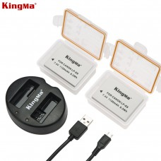 KINGMA LP-E8 Dual Battery with Charger For Canon 550D, 600D, 650D, 700D, Rebel T2i, Rebel T3i, Rebel T4i