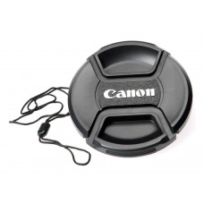Center-Pinch Snap-On Front Lens Cap For Canon