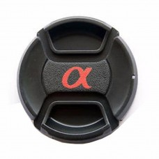 Center-Pinch Snap-On Front Lens Cap For Sony