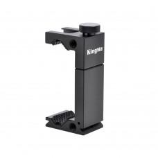 KingMa Aluminum alloy Hot Shoe Phone Clip for microphone LED Video Light